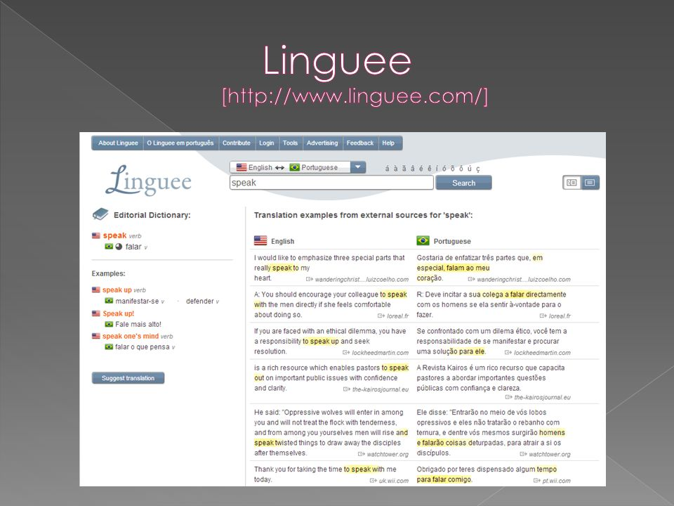 Linguee [http://www.linguee.com/]